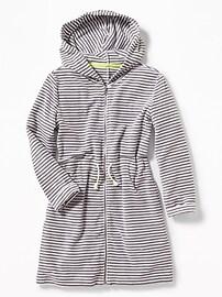 Couvre-maillot avec capuchon en tissu éponge pour fille