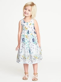Floral-Print Maxi Sundress for Toddler Girls