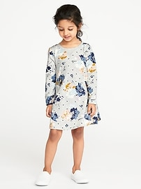 French-Terry Sweatshirt Dress for Toddler Girls