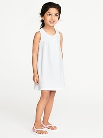Loop-Terry Swim Cover-Up for Toddler Girls