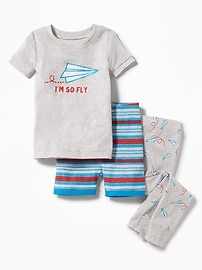 "3-Piece ""I'm So Fly"" Graphic Sleep Set for Toddler & Baby"