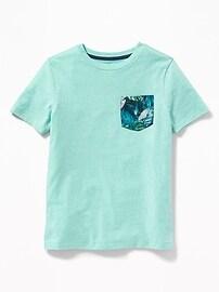 T-shirt à imprimé avec poche pour garçon