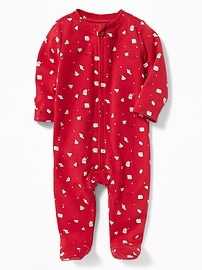 Valentine-Printed Footed Sleeper for Toddler & Baby