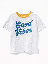 T-shirt à imprimé «Good Vibes» pour tout-petit garçon