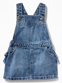 Denim Ruffled-Back Skirtall for Baby