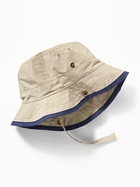 Canvas Bucket Hat for Baby