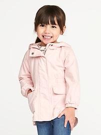 Anorak en sergé drapé pour toute-petite fille