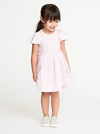 Flutter-Sleeve Tutu Dress for Toddler Girls