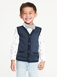 Textured French Terry Vest for Toddler Boys