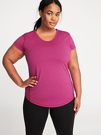 Plus-Size Semi-Fitted Performance Top