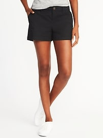 """Relaxed Mid-Rise Shorts for Women (3 1/2"""")"""