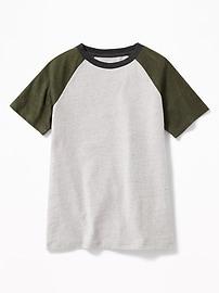 T-shirt à manches raglan le plus doux pour garçon