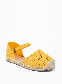 Sueded Perforated Espadrilles for Girls