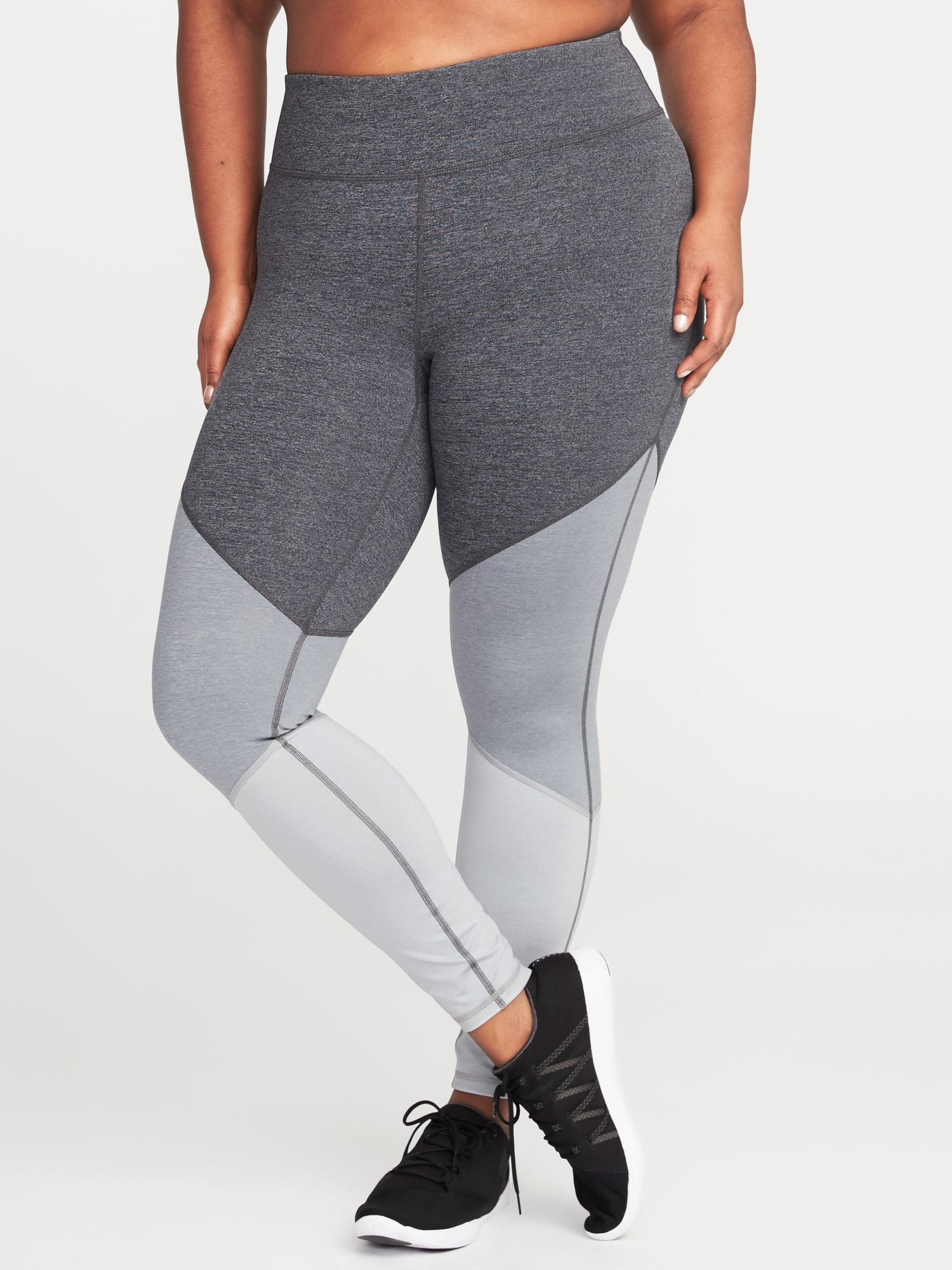 fac25d44ee High-Rise Plus-Size Color-Block Compression Leggings | Old Navy