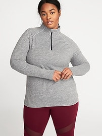Semi-Fitted 1/4-Zip Pullover for Women