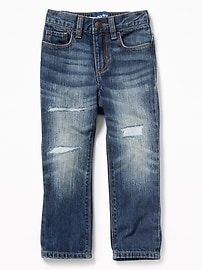 Relaxed Rip-&-Repair Jeans for Toddler Boys
