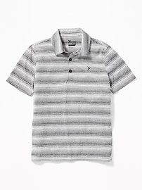 Striped Performance Polo for Boys