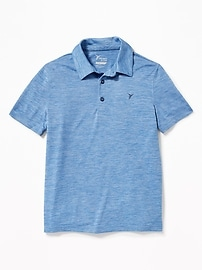 Space-Dye Performance Polo for Boys