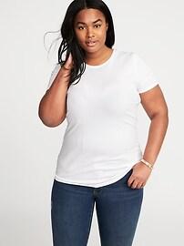 T-shirt ajusté à encolure ras du cou, taille Plus