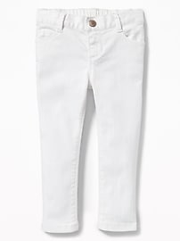 Skinny Ballerina White Jeans for Toddler Girls
