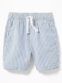 Striped Built-In Flex Seersucker Shorts for Toddler Boys