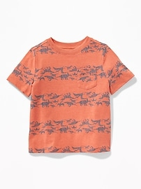 Printed Pocket Tee for Toddler Boys