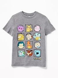 T-shirt avec grille de personnages PokémonMC pour garçon