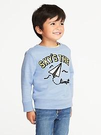"""Sky's the Limit"" Fleece Sweatshirt for Toddler Boys"