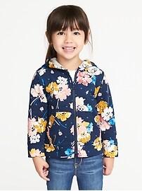 Graphic Fleece Zip Hoodie for Toddler Girls