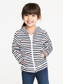 Graphic Fleece Zip Hoodie for Toddler Girls