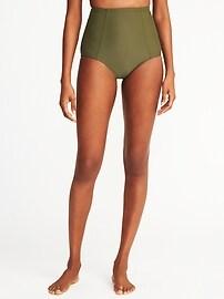 Culotte de bikini taille haute pour femme