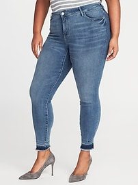 Smooth & Slim High-Rise Plus-Size Rockstar Ankle Jeans
