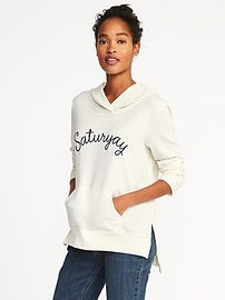 Relaxed Graphic Pullover Hoodie for Women
