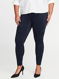 Mid-Rise Plus-Size Sueded Stevie Pants