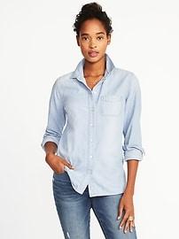 Chemise décontractée en cambrai pour femme