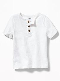 Slub-Knit Henley for Toddler Boys