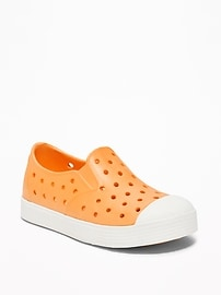 Perforated Pop-Color Slip-Ons for Toddler Boys