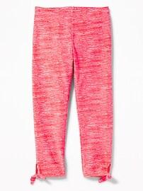 Cropped Tie-Hem Leggings for Girls