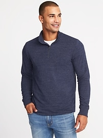 Mock-Neck 1/4-Zip Sweater for Men