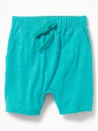 Slub-Knit Pull-On Shorts for Toddler Boys
