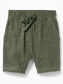 Slub-Knit Pull-On Shorts for Toddler Boys