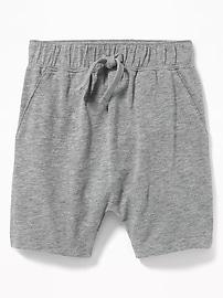Short à enfiler en tricot grège pour tout-petit garçon