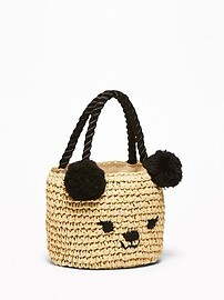 Straw Critter Bag for Toddler & Baby