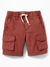 Ripstop Canvas Cargo Shorts for Toddler Boys