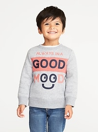 """Always In A Good Mood"" Sweatshirt for Toddler Boys"
