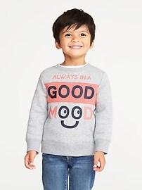 Chandail sport «Always In A Good Mood» pour tout-petit garçon