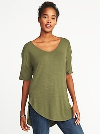 Relaxed Luxe Slub-Knit Tunic for Women