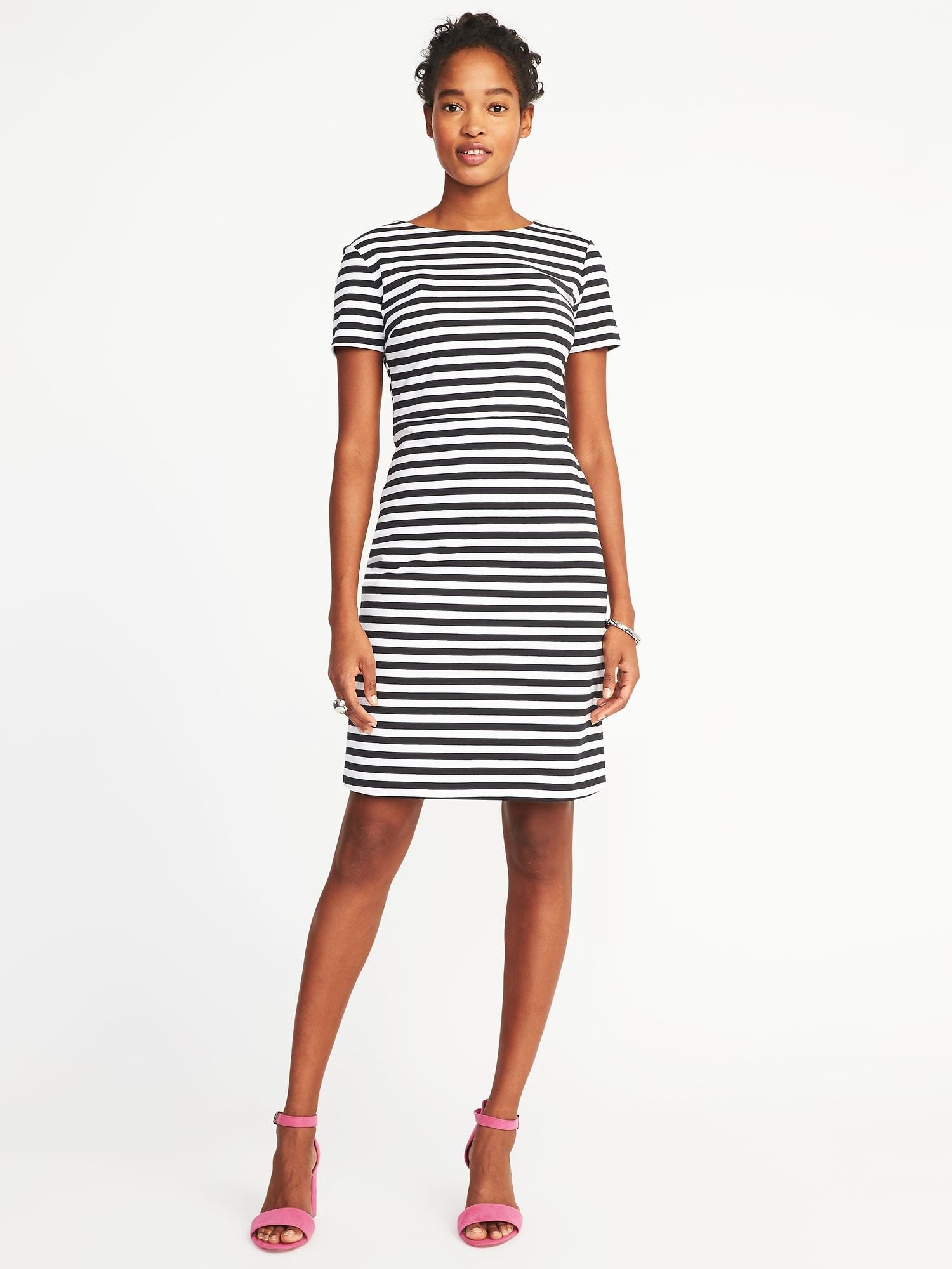 b7185841a2ca71 Ponte-Knit Sheath Dress for Women