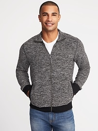 Mock-Neck Full-Zip Sweater for Men