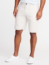 "Ultimate Slim Built-In Flex Linen-Blend Shorts for Men (10"")"